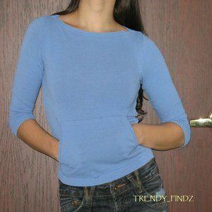 LAUNDRY SHELLI SEGAL blue spring sweater sz P/XS